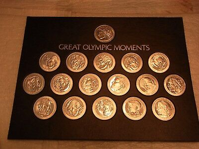 Vintage Coca-Cola Aluminum Medals Of Great Olympic Moments In Original Display