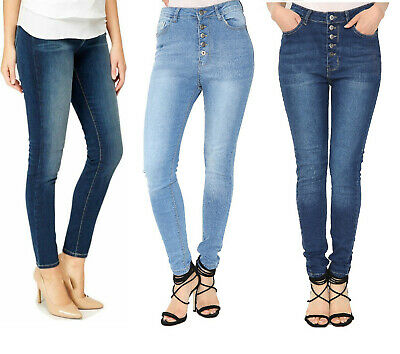 Ladies Womens Slim Fit Jeggings Denim Jeans Stretch Trouser UK Size 8-18