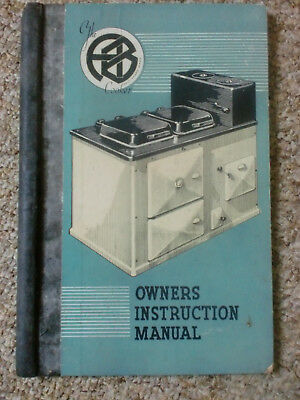 AB Cooker Aga Type Range Rayburn Vintage Instruction Manual Book Cooking Times