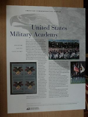 USA Commemorative Panel #650 2002 Mar 16 United States Military Academy #3560