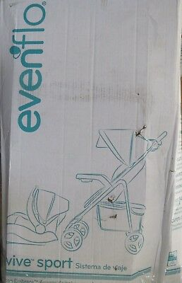 Evenflo Vive Travel System with Embrace Infant Car Seat ~ KOI~ NEW ~