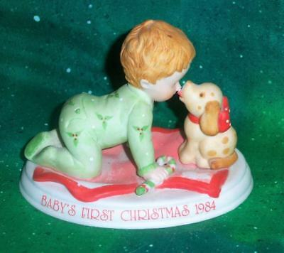 Retired Vintage 1984 Holly Hobbie Baby First Christmas Limited Edition Figurine
