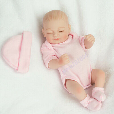 "10"" Realistic Newborn Babies Reborn Baby Girl Dolls Gift Toy Full Vinyl Silicone"