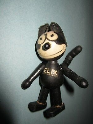"Early Antique 4"" Schoenhut 1924 Wooden Felix the Cat"