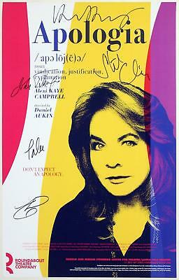 APOLOGIA Cast Stockard Channing Signed Poster