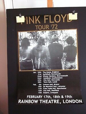 Pink Floyd : Tour '72 poster : Dark Side of the Moon 22 X 31