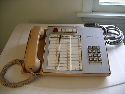 1970s Bell/Western Electric~Touch A Matic 6 Button 2872A2M Telephone ~ NoRes