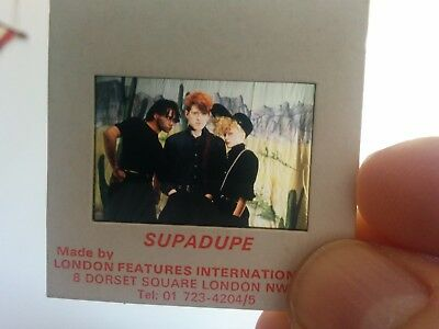 Thompson Twins promo photo slide Synth pop, 80`s pop