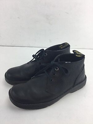DOC DR MARTENS Sussex CHUKKA Ankle BOOTS Mens US 10 Black LEATHER Air Wair