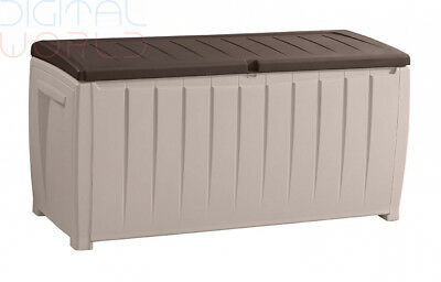 Keter Novel Outdoor Plastic Storage Box Garden Furniture 124 x 55 x 62.5 cm