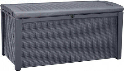 Keter Borneo Outdoor Plastic Storage Box Garden Furniture 129.5 x 70 x 62.5 cm