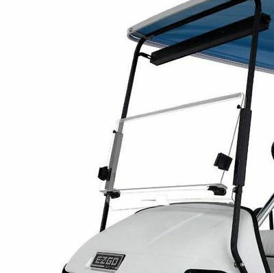 EZGO TXT CLEAR Windshield, 4mm Acrylic, Folding Flip Down 1994 & Up