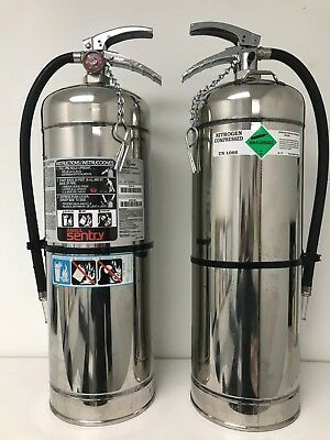 Two Pack 2.5 Gallon Water Fire Extinguishers Refillable - Bonfires - Ships Free!