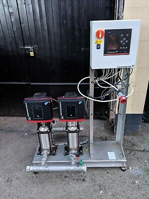 Grundfos Booster Set. Cu352 CRIE5-9 ~3 400V CME with integral inverters.