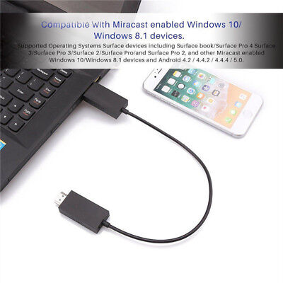 For Microsoft Wireless Display Adapter V2 Receiver HDMI And USB Port Black —HQ