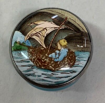 Halcyon Days Enamel Small Covered Threaded Box Childrens Hospital Fund