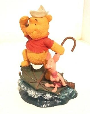 """Disney piglet/pooh Figurines """"Simply Pooh Adventures Are Much More Fun With Two"""""""