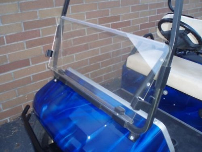 Club Car DS CLEAR Windshield, 4mm Acrylic, Folding Flip Down
