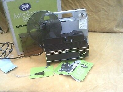 Boots Autozoom 850 Super 8 Cine Projector, Excellent, Boxed, Working Well.
