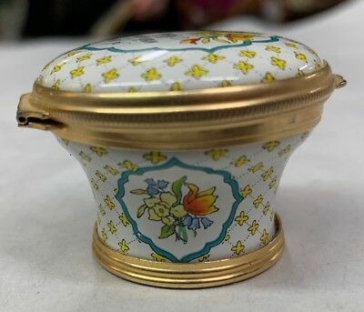 Halcyon Days Enamel Small Covered Threaded Box Mothers Day