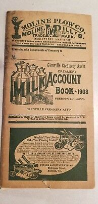 Minneapolis Moline 1908 Account Book Creamery Milk Farm Machinery Farm Wagons