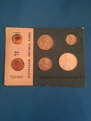 1966 Royal Australian Mint Uncirculated Carded Set