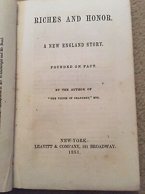 Rare Book Riches And Honor A New England Story First Edition