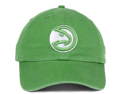 best authentic 12faf 96d99 ... canada new atlanta hawks pastel rush clean up hat cap 47 brand green  bd2a7 3dd21