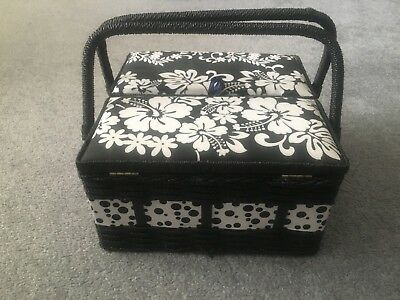 Large Craft Padded Sewing Box New With Handle And Compartment Box