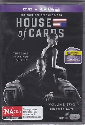 House Of Cards - The Complete Second Season - DVD (Brand New Sealed) Reg. 2,4,5