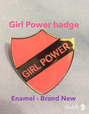 GIRL POWER metal Enamel PIN BADGE Limited edition Delivery worldwide. UK Seller