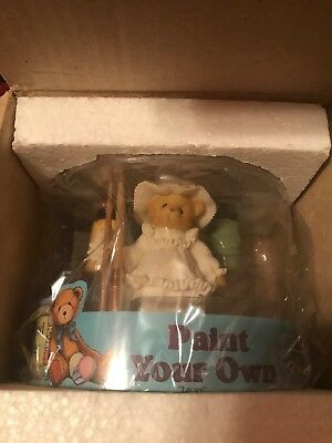 Cherished Teddies LACEY 662453A PAINT YOUR OWN  NEW & SEALED