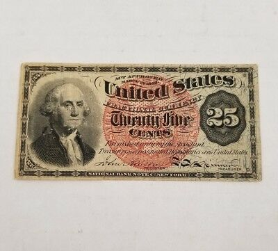 1863 Washington 25 Cent Fractional Currency