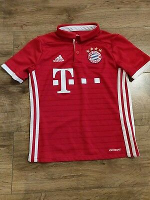 Bayern Munich 2016-2017 Official Adidas Football Shirt (Youths 9-10 Years)
