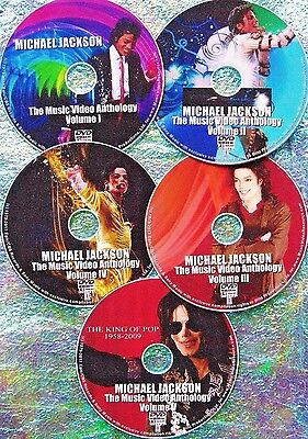 Button & FREE MICHAEL JACKSON Music Video Collection 2016 5 DVD 87 Videos XSCAPE