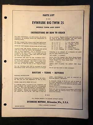 1954 Evinrude 25 HP Big Twin Electric Outboard Repro 9 Pc Vinyl Decals 25916-17