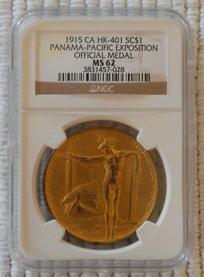 Official Panama-Pacific Exposition Medal 1915 HK-401 NGC Graded MS-62