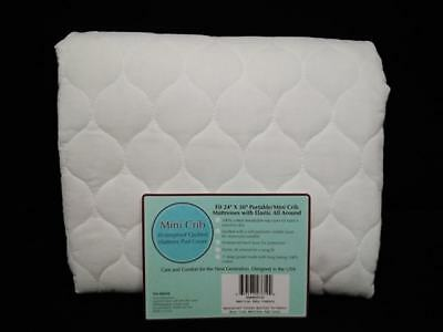 Portable Mini Crib Mattress Pad Cover White Baby Bedding Comfort Soft NWOP READ!