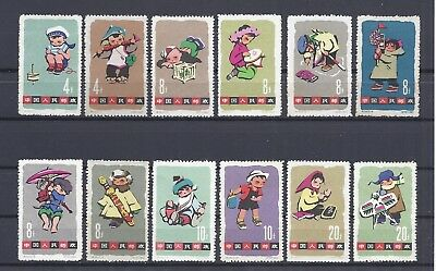 CHINA PRC 1963 S54 Sc#684-95,  Children's Day . MNH. NGAI. Toned. Scv$96.00