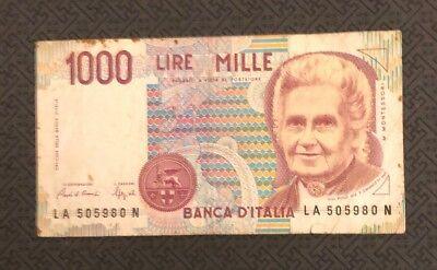ITALY 1,000 (I000) Lire, 1990, P-114, World Currency