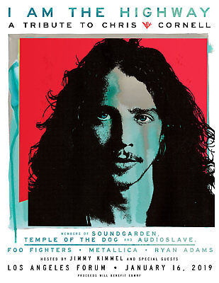 I Am The Highway Chris Cornell Tribute 1 Ticket LA Forum Section 205