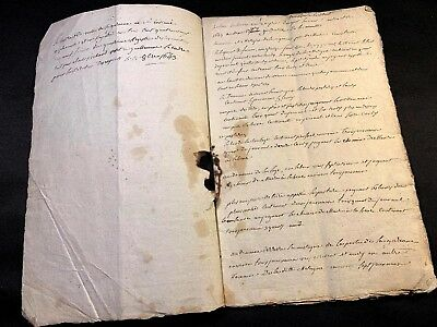 VERY OLD MANUSCRIPT 1801   24 pages