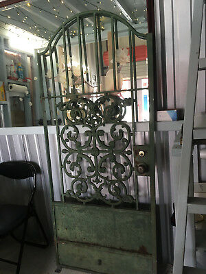 Wrought Iron Door: Green Garden Gate ALY2018 Local Pickup