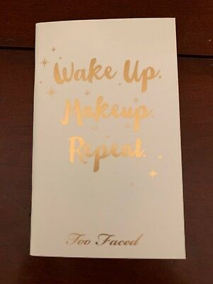 Too Faced Wake Up Makeup Repeat 2018 Planner And Planner Cover/Book W/ Stickers