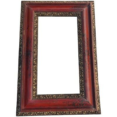 Rare 18th Century, Large Carved, Gilded and Chinoiserie Portuguese Baroque Frame