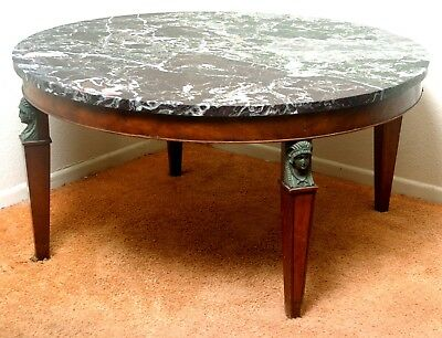 """vintage marble top coffee table, spectacular with 36"""" diameter"""