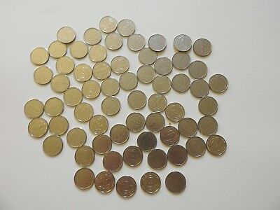 "65 AMCO SLOT MACHINE TOKENS - STD. .984""/ 25mm DIAMETER FOR PACHINKO/PACHISLO"