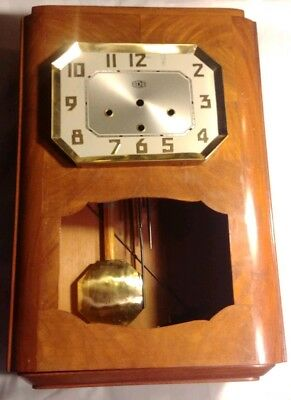 Vintage ODO Westminster Chime Clock Parts Face Cabinet Pendulum Chime