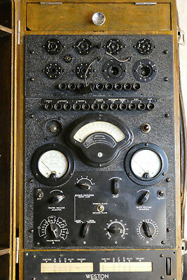 WWII USN NAVY Weston Vacuum Tube Tester Model 788 Navy Depart OQ-3 WW2 RARE OLD