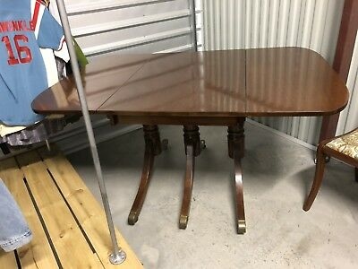 Duncan Phyfe Style Dining Table with 6 Chairs Craddock Brand
